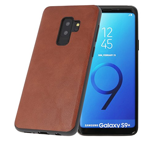 PULSARplus Hülle kompatibel mit Samsung Galaxy S9 Plus Handyhülle, Unterstützt kabelloses Laden (Qi), Schutzhülle dünn Case Cover Cognac Braun