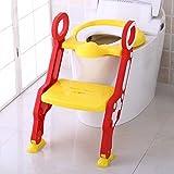 Cute Escabeau pour bébé Toilette Pot Escabeau Tabouret par Babyhugs- Jaune et rouge