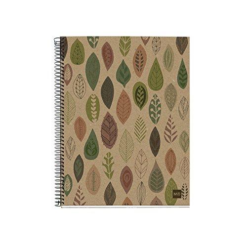 Miquelrius 2870 - Notebook 4 cartón reciclado ecojohas m (DIN A4, 210 x 297 mm, 120 hojas, 80 g/m², cuadrícula)