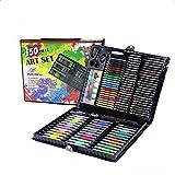 CCDZ Stylo Aquarelle Pastel A l'huile Crayon De Couleur Stylo De Peinture Combinaison Cadeau Parfait pour Les Enfants Studio Mobile Boîte Cadeau d'art -150 Pièces Au Total