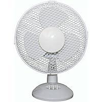 Internet Electrical 3-Speed Oscillating Desk Top Fan, 12-Inch, White