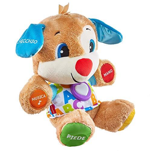 Fisher Price FPM51 - Cagnolino Smart Stages Ridi e Impara, Morbido Peluche Educativo con Musica e Canzoni, Giocattolo per Bambini di 6 + Mesi