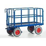 Rollcart Handpritschenwagen mit Rohrgitterwänden, 15-45201