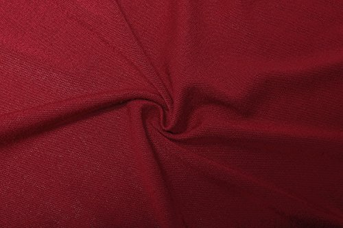 ReliBeauty Damen Kurzarm High Low Hem T-Shirt Falten Plissee Tunika Tops Rot