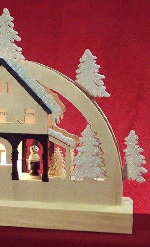 Mini LED Vela Arco - Casa Forestal - 23x15x4.5cm / 9x6x2 pulgadas - Auténtico Erzgebirge Vela Arcos alemán - Michael Müller