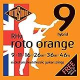 Rotosound Roto Orange Jeu de cordes pour guitare électrique Nickel Tirant hibryd (9 11 16 26 36 46)