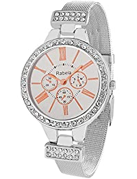 Rabela Women's Analogue White Dial Watch RAB-820
