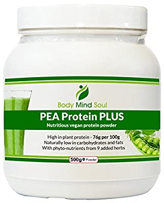 PEA Protein Plus vegan protein powder. Fortified with antioxidants, phyto-nutrients, vitamins and minerals from 9 herbs and superfoods (including baobab fruit).A Light nutritious meal, Dairy, Lactose and Gluten Free. Protein intake, fat burning, muscle re