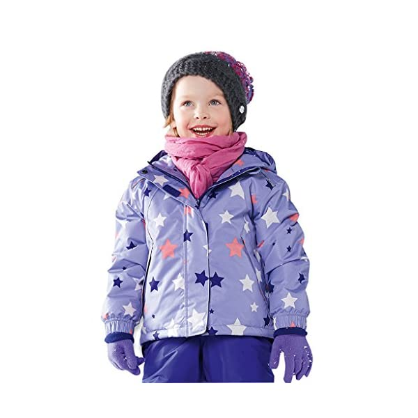 Sundwsports Chaquetas de Esquí para Niñas Niños,Traje de Nieve con Capucha Abrigo de Invierno Impermeable 1