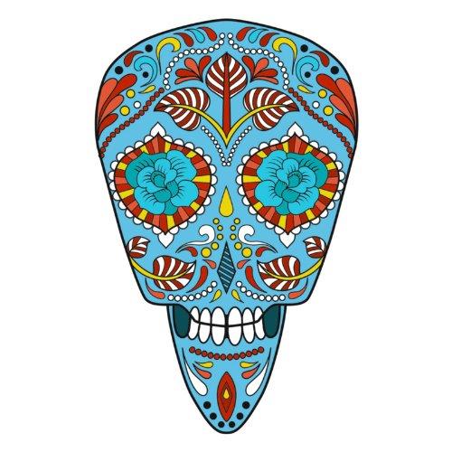 T-Shirt - Matey Skull 19 - Totenkopf - Sugar Skull - Herren - unisex Weiß