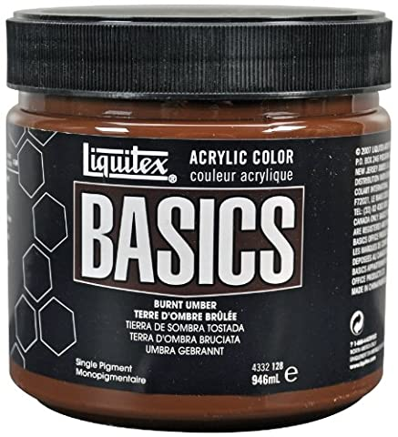 Liquitex 94232 Pot de Peinture acrylique 946 ml Terre d'ombre
