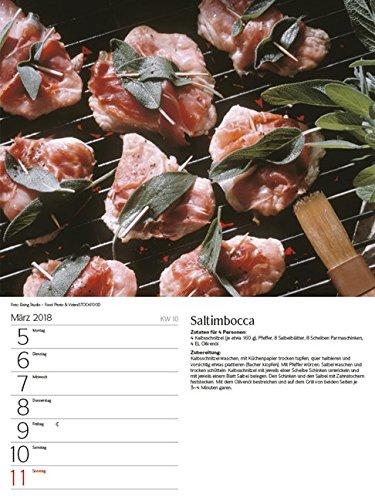 51EuUGgs0sL - Genussvoll Grillen 2018: Foto-Wochenkalender