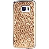 KSHOP Étui Case pour Samsung Galaxy A5 (2016) A510F Ultra-Mince Silicone Gel Housse Bling Glitter Coque de protection TPU Case Protection Cover Couvrir Pare-Chocs Anti-rayure Coquille Arrière - Or