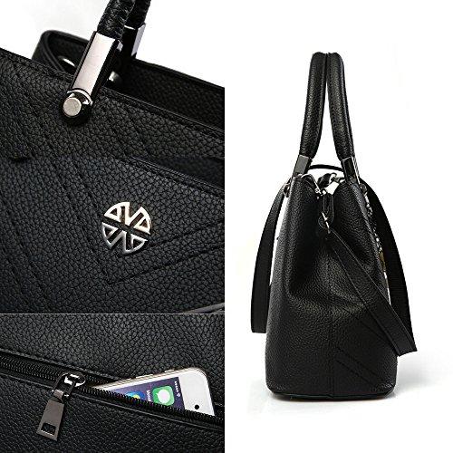FavoMode, Borsetta da polso donna grigio Graue Handtasche taglia unica Dunkel Rote Handtasche