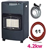 NEW CALOR 4.2kw PORTABLE HEATER FREE STANDING HEATING CABINET BUTANE GAS HEATER