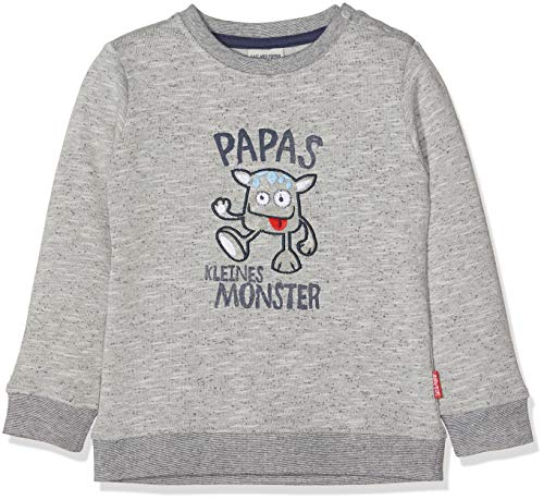 SALT AND PEPPER Baby-Jungen Sweatshirt B Monster Uni, Grau (Grey Melange 246), 68