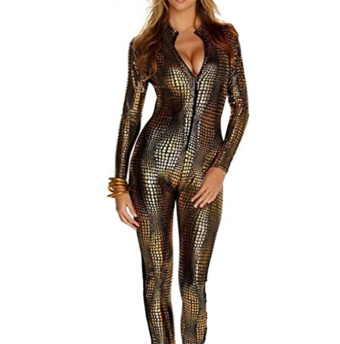 psuit Gr. 34, gold (Metallic Catsuit)