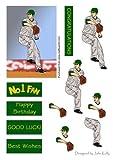 Baseball Pitcher 2(tappo verde)–decoupage by John Kelly
