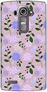 The Racoon Lean printed designer hard back mobile phone case cover for LG G4. (Pastel Cra)