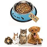 Western Era Dog Anti Skid, Stainless Steel Bowl- Cat Kitten Puppy (200ml) (Random)