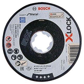 Bosch Professional Expert – Disco de corte recto (para metales, X-LOCK, Ø115 mm, diámetro del orificio: 22,23 mm, grosor:1,6 mm)