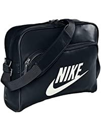 Nike Heritage SI Track - Bolso bandolera (40 x 32 x 12 cm), color negro - 40.5 x 30.5 x 13 cm