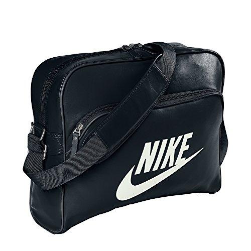 Nike Herren Tracktasche Heritage, Black/Sail, 40.5 x 30.5 x 12.5 cm, 21.5 Liter, BA4271-019