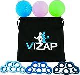 VIZAP® 6er-Set Premium Handtrainer/ Fingertrainern/ Unterarmtrainer sind perfekt zur Stärkung der Hand- & Unterarmmuskeln - Finger Stretcher inkl. hochwertigem Aufbewahrungsbeutel