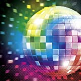 16 Stk. Party Tischdekoration 70`s Servietten Mottoparty Deko 70er Jahre Tischdeko Disco Partydeko