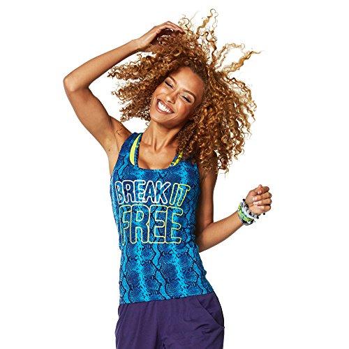 Zumba Fitness Z1T01041 - Camisetas sin mangas, color azul, talla XXL