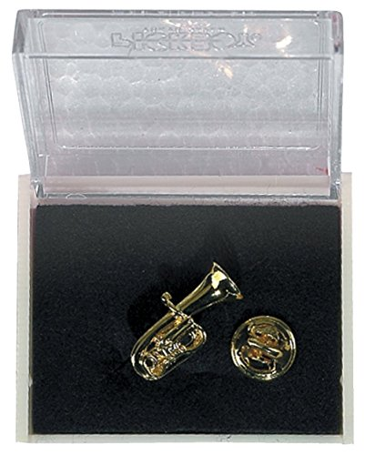 GEWA Unisex-Brosche Anstecknadel Tuba, goldfarbig - 980041