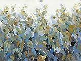 Artland Qualitätsbilder I Glasbilder Deko Glas Bilder 80 x 60 cm Botanik Blumenwiese Spachteltechnik Bunt C2KS aufs Neue I