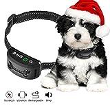 OMORC Hunde Erziehungshalsband, Trainingshalsband Vibrationshalsband Anti-Bell Halsbänder mit 7-Levels Empfindlichkeit für kleine und mittelgroße Hunde-Sicher Keine Schmerzen