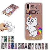 V-Ted Coque Apple iPhone XR Chat Licorne Coloré Silicone Ultra Fine Mince Bumper...
