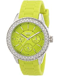 Esprit Damen-Armbanduhr marin glints Analog Quarz Silikon ES106222003