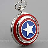 Captain América Montre de poche avec collier, montre gousset Marvel