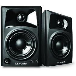 M-Audio AV32 - Monitores activos compactos de referencia para la creación audiovisual profesional y PC, color Negro