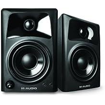 M-Audio AV32 - Altavoces monitores de escritorio estudio activos, para reproducción multimedia con audio y referencia para la creación audiovisual