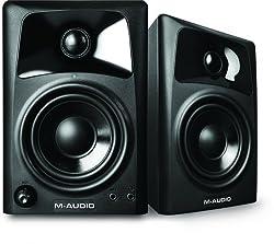 M-Audio AV32 2 Weg Aktiv Lautsprechern Perfekt für PC Gaming Filme schauen oder das Hören Ihrer Lieblingsmusik