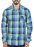 Aady Jones Blue Cotton Slim Fit Checkere...