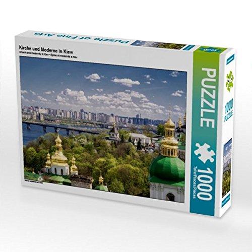 Preisvergleich Produktbild Kirche und Moderne in Kiew 1000 Teile Puzzle quer (CALVENDO Orte)
