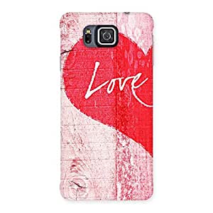 Love Pink Multicolor Back Case Cover for Galaxy Alpha