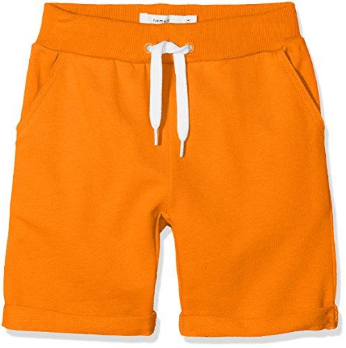 NAME IT Baby-Jungen Shorts NMMVAIN SWE Long UNB D, Shocking Orange, 104