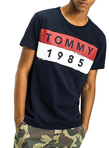 Tommy Jeans Herren Tjm Basic CN T-Shirt S/S 12, Blau (Black Iris 002)