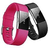 Yometome pour Fitbit Charge 2 Bracelet, Bande en TPE Souple Sangle de Remplacement...