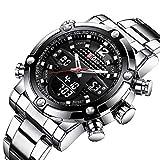 SW Watches Biden Markenmode Männer Sport Digitaluhr Steel LED Shock Stoppuhr wasserdichte Uhr Für...