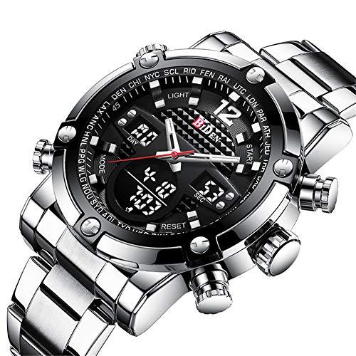 SW Watches Biden Markenmode Männer Sport Digitaluhr Steel LED Shock Stoppuhr wasserdichte Uhr Für Männer Militärische Taucheruhr