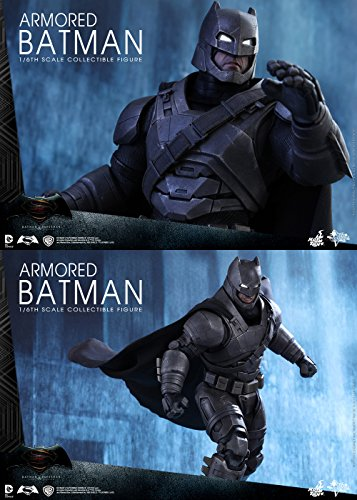 Hot Toys Batman VS Superman - Figura de Batman, Escala 1:6, diseño con Texto en inglés Armored Batman, Color Negro y Gris 4