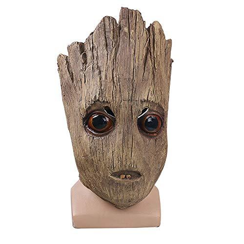Maske YN Luxus Neuheit Wächter der Galaxie Groot Baum Halloween Weihnachten Perücken Requisiten