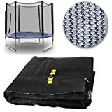 NEW 8FT REPLACEMENT TRAMPOLINE SAFETY NET ONLY ENCLOSURE SURROUND 6 POLES